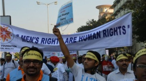 'Men's rights are human rights' - rally, India 2014