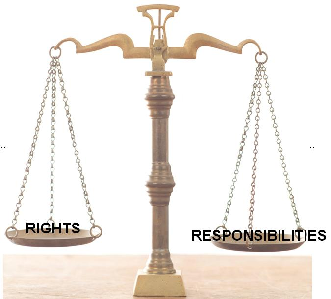 rights and responsibilities Once adopted, rights and responsibilities will serve as an important guidepost for all those involved in the community—board and committee members, managers, homeowners and non-owner residents the document will also serve as an excellent tool to educate new homeowners and residents about their own rights and responsibilities.